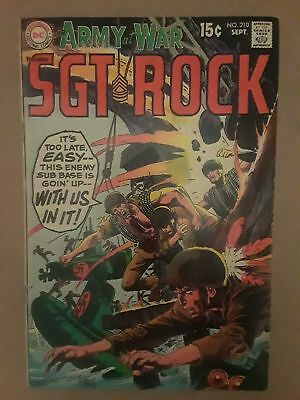 Our Army At War #210 (Vg 4.0) 1969 Dc Comics! Sgt. Rock! Russ Heath Art!!
