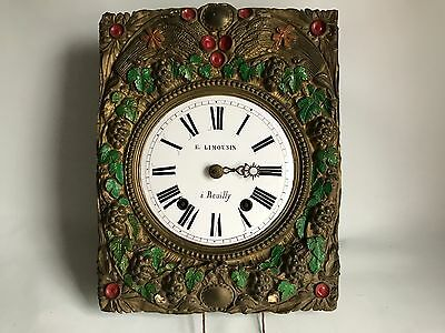 """ANTIQUE """"E. LIMOUSIN - A REUILLY"""" - 18th CENTURY FRENCH LONG CASE CLOCK MOVEMENT"""