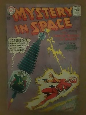 Mystery In Space #83 (Gd- 1.8) Dc Comics! Adam Strange Cover & Appearance
