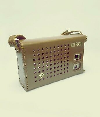 HITACHI TRANSISTOR RADIO with leather case