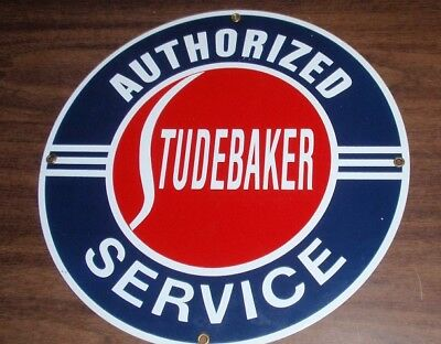 Porcelain Sign - Authorized Studebaker Service by Ande Rooney Signs Made USA