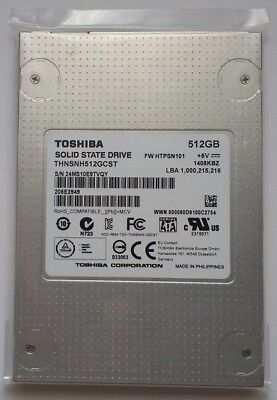 "512GB Toshiba Solid State Drive SSD 2.5"" SATA 6.0 Gbit/s THNSNH512GCST"