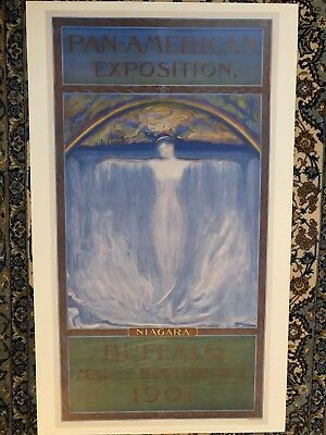 Pan-American Exhibition Niagara Buffalo 1901 Poster by artist Evelyn Rumsey Cary