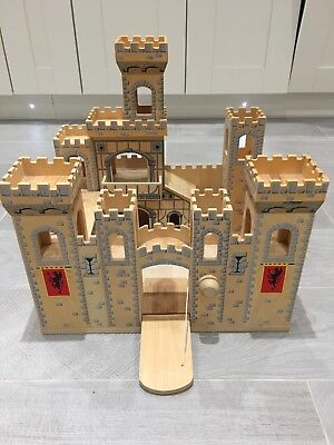 Melissa And Doug Folding Medieval Wooden Castle For Children