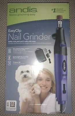 Andis EasyClip 2-Speed Nail Grinder for Pet Grooming 65880 ANG-1 NEW IN BOX