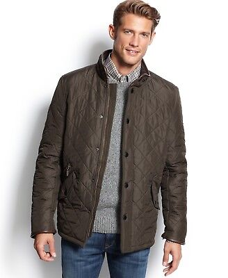 NEW WITH TAGS Men's BARBOUR Powell Quilted Jacket, Olive, Small