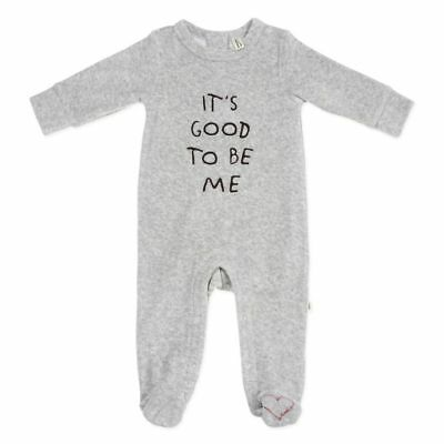 "ED Ellen DeGeneres ""Good To Be Me"" Footie in Gray 9 Months"