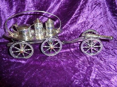 Silver Plated Beautiful vintage condiment set