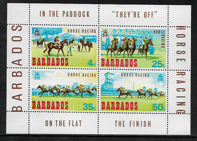 Barbados #315a MNH S/Sheet - Horse Racing