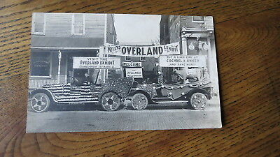 Rppc Postcard Willys Overland Car Exhibit Parade Cochrel Unser Never Sent