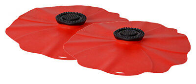 Silicone Drink Cover - Poppy