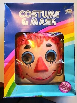 1982 Raggedy Ann Ben Cooper Mask And Costume