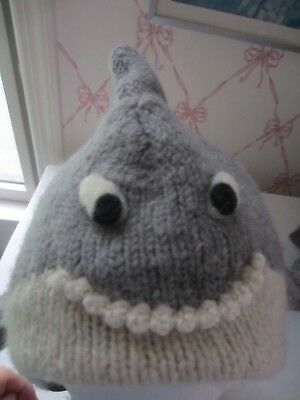 Nirvana Designs Youth 100% Wool Hand Made In Nepal Shark Hat