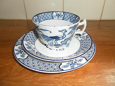 Wood & Sons Blue / White Yuan Trio Cup,plate And Saucer