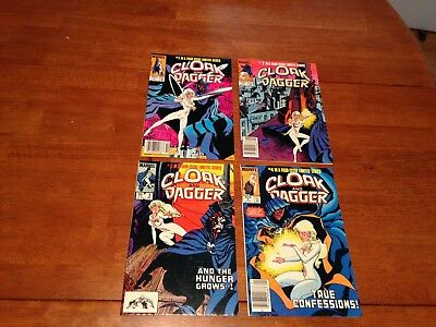 Cloak & Dagger Complete Limited Series 1 + 2 + 3 + 4 (1983) Marvel 4 Run Lot *tv