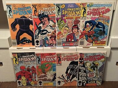 Amazing Spider-Man VF+/NM #271 273 274 275 276 277 278 279 more auctions!