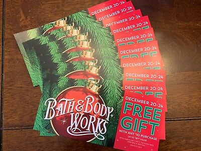 Bath and Body Works Gift In Store Coupon Lot of 10 $165 Value