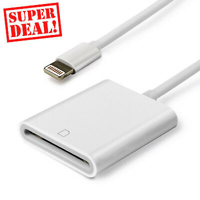 Apple Lightning to SD Card Cable Photos Reader Trail Game iPhone iPad USB Fast