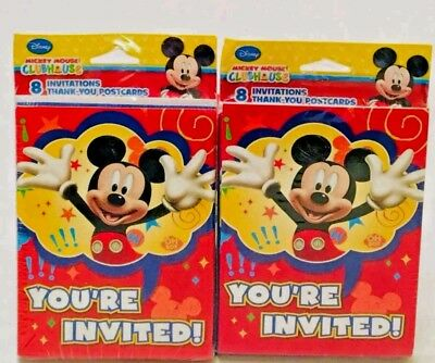 Mickey Mouse Clubhouse Birthday Invitations Thank You