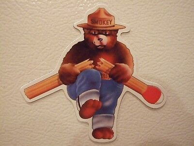 Colorful New Smokey The Bear MAGNET Fire Fighters Safety Forest Prevention Parks