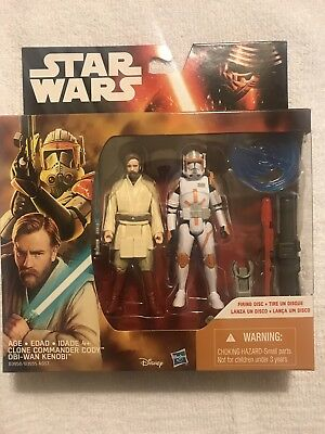 Star Wars 2 characters pack Obi-Wan & Commander Cody 3.75 inch action figures