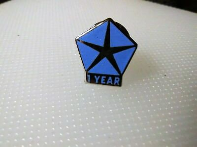 Chrysler 1 year of employment pin