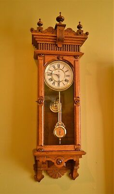 Rare Antique Waterbury 'brockville' Wall Clock. Restored, Serviced.