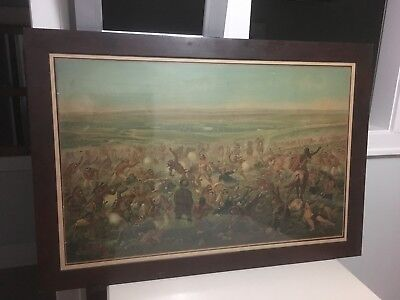 Pre prohibition CUSTERS LAST FIGHT 1896 Anheuser-Busch BUDWEISER Beer Print Sign