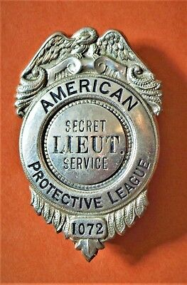 Obsolete SECRET SERVICE BADGE American Protective League police WW1 100 year old