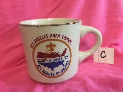 1972 Los Angeles Area Council Mug - Scout-O-Rama  Boy Scouts Bsa - C