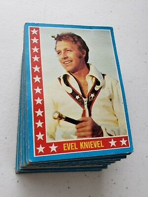 Rare 1974 Topps Evel Knievel Complete Set Of 60 Trading Cards