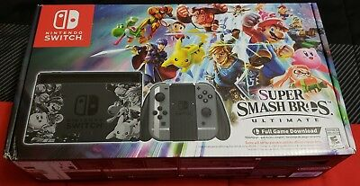 Nintendo Switch Super Smash Bros. Ultimate Limited Edition Console w/ Game Code!