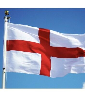Big England Flag 8FT X 5FT St George Cross  English Eyelets Football Rugby Day