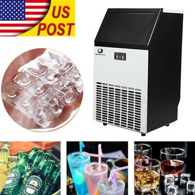 Stainless Steel Commercial Ice Cube Maker Undercounter Freestanding Machine Bar