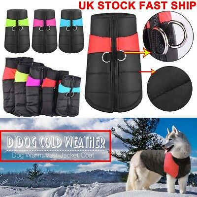 Dog Coat Winter Warm Waterproof Padded Jacket Clothes Vest For Small / Large Pet
