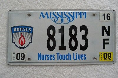 "Mississippi 2009 License Plate ""Nurses Touch Lives"" – Look"