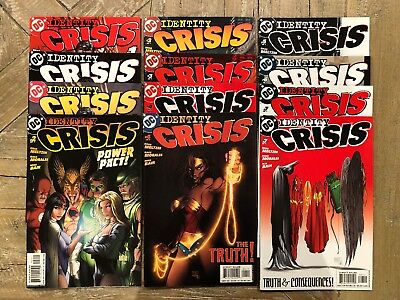 Identity Crisis 1-7 With Michael Turner Variants--12 Books