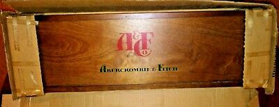 Vintage Abercrombie & Fitch Horseshoe Set in Wood Box Never Used! Nice Graphics!