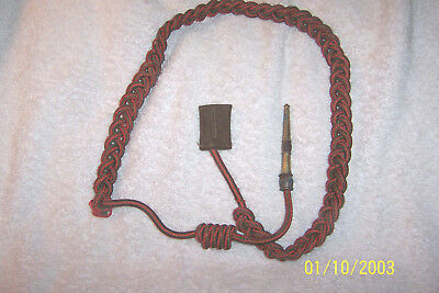 Orig. WWI US Marine Croix de Guerre Red/Green Shoulder Cord Army Fourragere