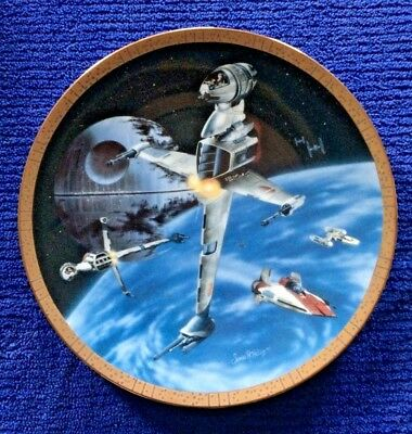 Hamilton Collection Star Wars Space Vehicles Plate B-Wing Fighter - 1995