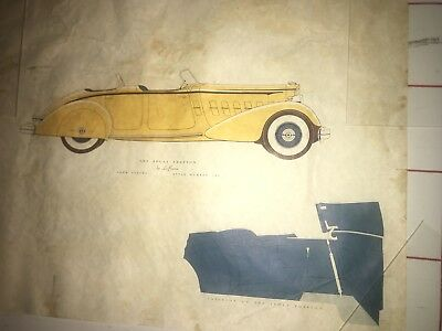 1939 Packard Sport Phaeton by Le Baron Color Design Drawing Style 280