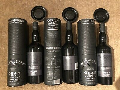 Game Of Thrones The Night's Watch Oban Bay Reserve Scotch Whiskey.