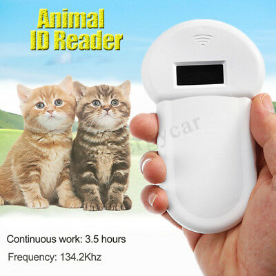 RFID 134.2Khz Animal Reader Pet Dog ISO FDX-B Microchip Handheld Ear Tag
