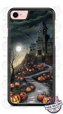 Halloween Haunted House Spooky Pumpkin Patch Phone Case for iPhone Samsung etc