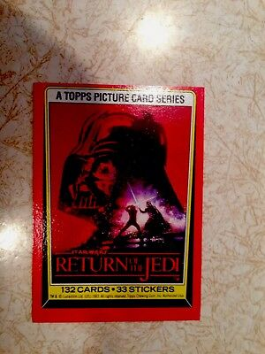 Star Wars Return Of The Jedi Topps Chewing Gum Cards Collection 1983