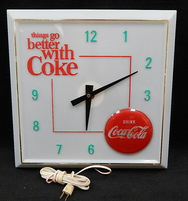 RARE Vintage Hanover Oadco Coca Cola lighted Things go better with Coke clock