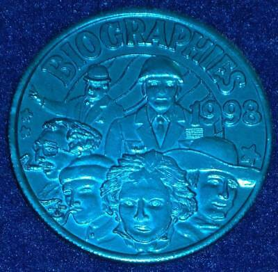 John Wayne Groucho Marx Patton Oliver Hardy New Orleans Mardi Gras Doubloon Coin