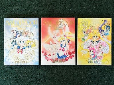 3 Set Pretty Soldier Sailor Moon Material Collection + Vol 1 & 2 Naoko Takeuchi