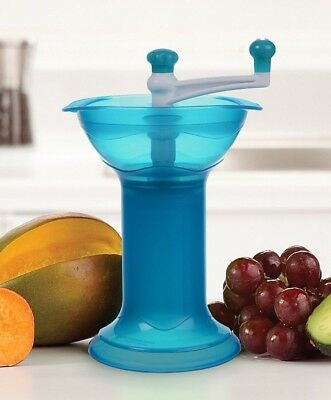Munchkin Puree Fresh Baby Food Grinder Masher Light Blue BPA Free
