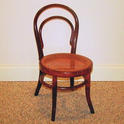 Antique Bendwood Child's Chair w/Original Cane Seat